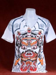 T-shirt met print van Balinees Barong masker