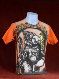 T-shirt met Print van Ganesha met inscripties