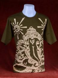 Modern T-shirt met Ganesha groen