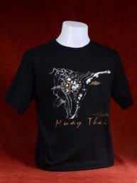 """Muay Thai T-Shirt """"Bata Loop Pak""""  zwart"""
