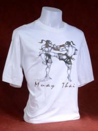 "Muay Thai T-shirt ""The Fighter"" wit-XXL"