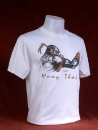 "Muay Thai T-Shirt ""Prapai Lom Singkorn"" wit"