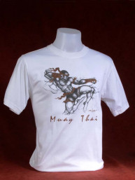 "Muay Thai T-Shirt ""Pra Ram Yeap Longkar"" wit"