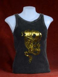 Tanktop met draak in goudprint 2