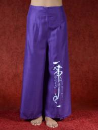 Zen omslagbroek Azumi paars