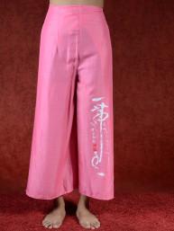 Zen omslagbroek Azumi roze