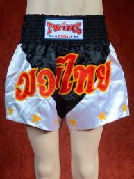 Originele Twins wedstrijd short Muay Thai Stars zwart