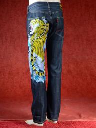 Geborduurde jeans Sugoi met Tijger