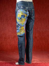 Geborduurde jeans Sugoi met drie Koikarpers