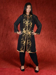 Salwar kameez, Indiase jurk of Punjabi dress zwart bruin