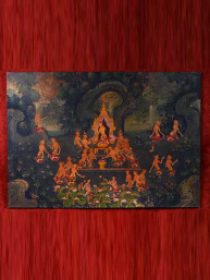 "Olieverf op canvas ""Bhuddha in the forest"""