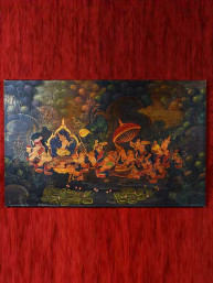 "Olieverf op canvas ""Bhuddha's journey"""
