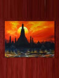 """Schilderij op canvas """"Wat Pho"""""""