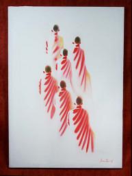 """Schilderij op canvas """"Monks"""""""