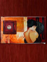 """Replica van David Graux schilderij """"La dame"""""""