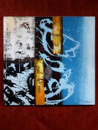 "Schilderij op canvas ""blue dragon"""