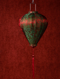 Chinese Lampion Lamp klein rood-groen
