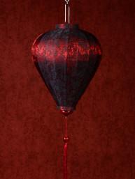Chinese Lampion Lamp klein rood-zwart