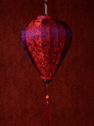 Chinese Lampion Lamp klein rood-blauw