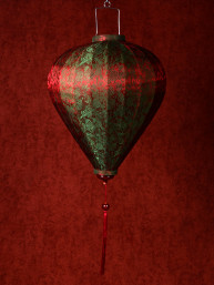 Chinese Lampion Lamp medium rood-groen