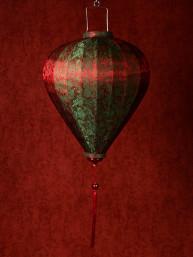 Chinese Lampion Lamp medium rood-groen