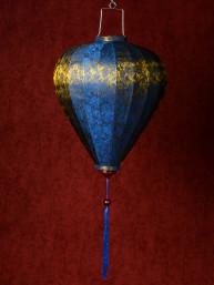 Chinese Lampion Lamp medium blauw-goud