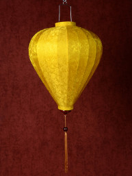 Chinese Lampion Lamp medium geel-goud