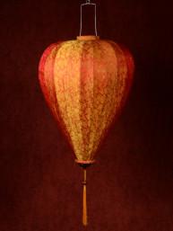 Chinese Lampion Lamp groot oranje-goud