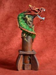 Wierookbrander met draak klein rood-groen