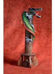 Wierookbrander met draak groot rood groen