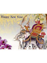Thaise dubbele wenskaart met envelop nieuwjaar
