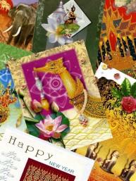 Pakket van 10 Thaise Kerst en Nieuwjaarskaarten
