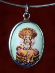 Medaillon met Hindoe God Vishnu