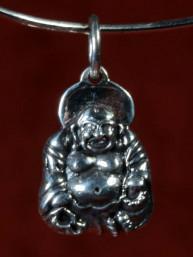 Hanger van een Happy Boeddha Zilver