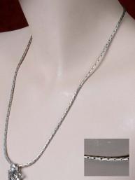 Zilveren ketting met lange schakels