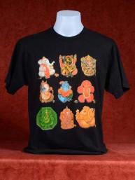 Leuk T-shirt met setje van 9 Ganesha's