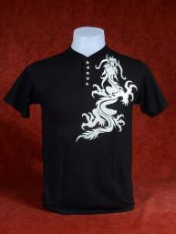 Shirt met zilveren Chinese Draak zwart