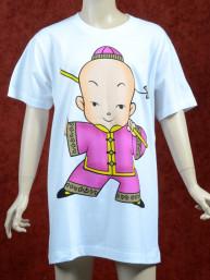 Paars Kung Fu T-shirt voor kinderen