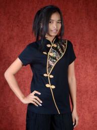 Shirt Windfall zwart - goud