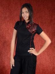Shirt  dynasty zwart - rood