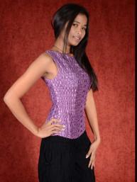 Spandex stretch top violet