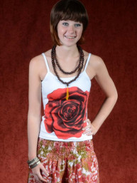 Tanktop Red Rose