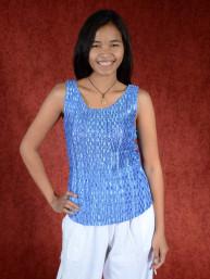Spandex stretch top briljantblauw