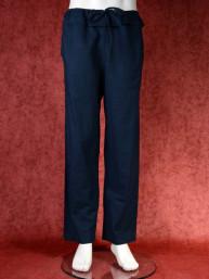 Tai chi broek zwart linnen