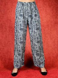 Tai chi broek met touwtje galaxy print zwart