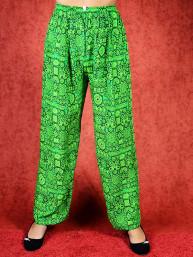 Tai chi broek met touwtje himalaya print groen