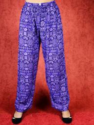 Tai chi broek met touwtje himalaya print paars
