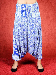 Harem broek Elephant model Sinbad blauw