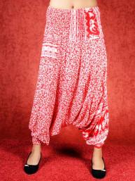 Harem broek Elephant model Sinbad rood