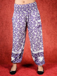 Harem broek Jungle model Aladdin paars